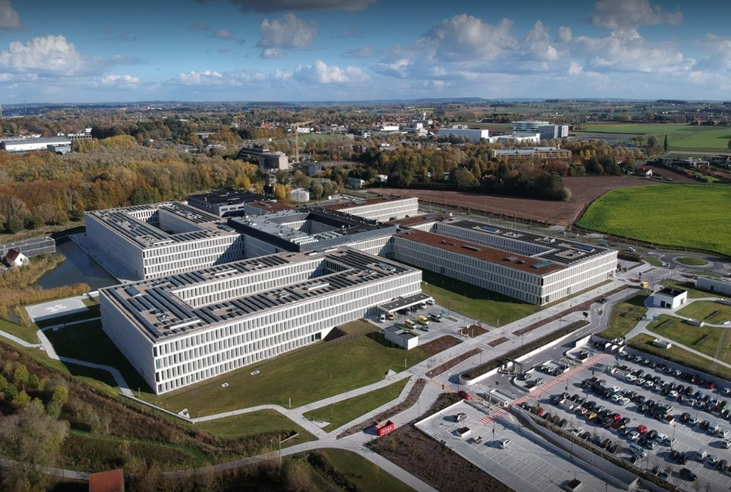 View of the AZ Groeninge Hospital in Kortrijk