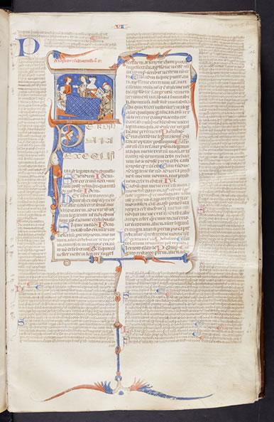 Scanned Image from Manuscript - Justinianus, Accursius Franciscus, Tres partes Infortiati (13th Century)