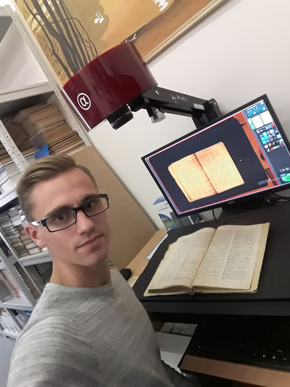Borys Grinchenko Kyiv University Library - Scanning of Books with Metis EDS Alpha Planetary Book Scanner