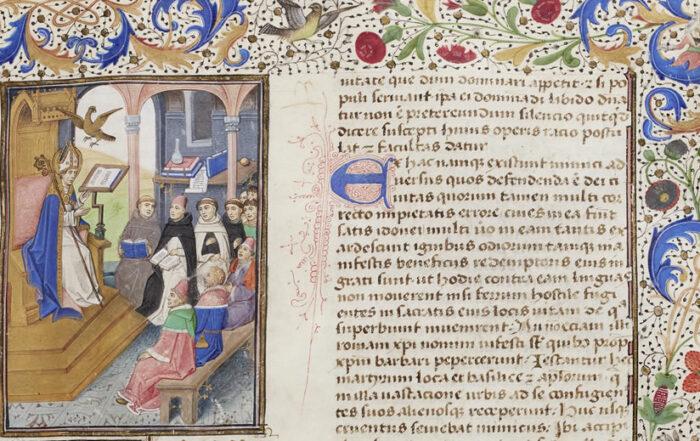 Scanned Image from Manuscript - Aurelius Augustinus Hipponensis, De civitate Dei (15th Century)